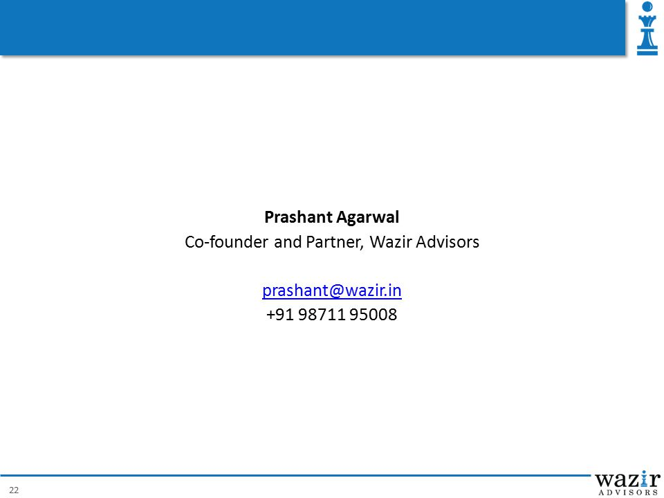 Prashant Agarwal Co-founder and Partner, Wazir Advisors