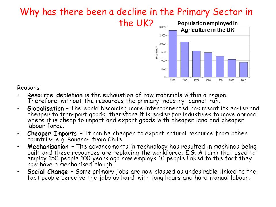 advantages of primary sector