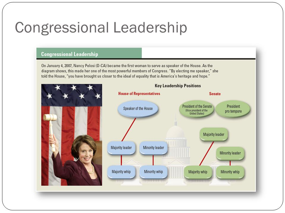 Chapter 11 lawmakers and legislatures ppt video online download 19 congressional leadership ccuart Image collections