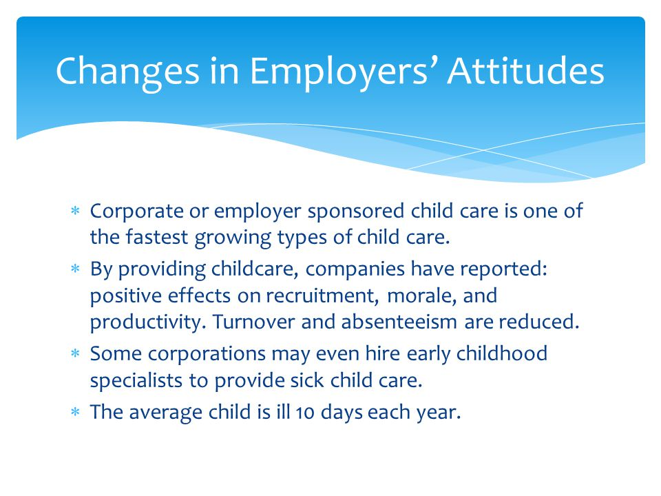 Changes in Employers' Attitudes