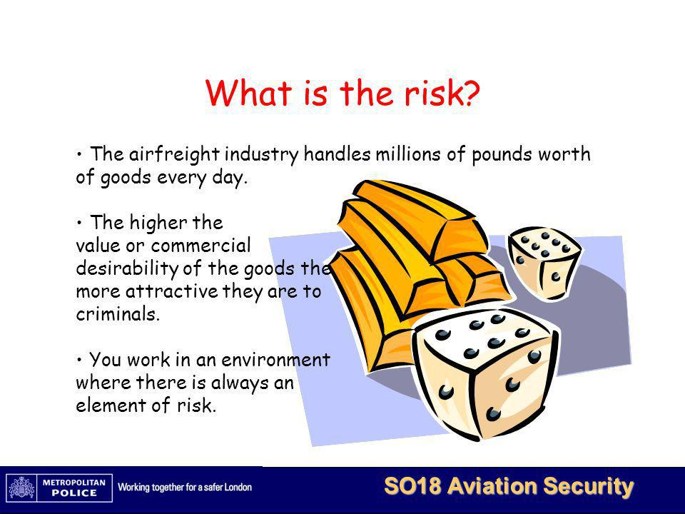 What is the risk The airfreight industry handles millions of pounds worth of goods every day. The higher the.
