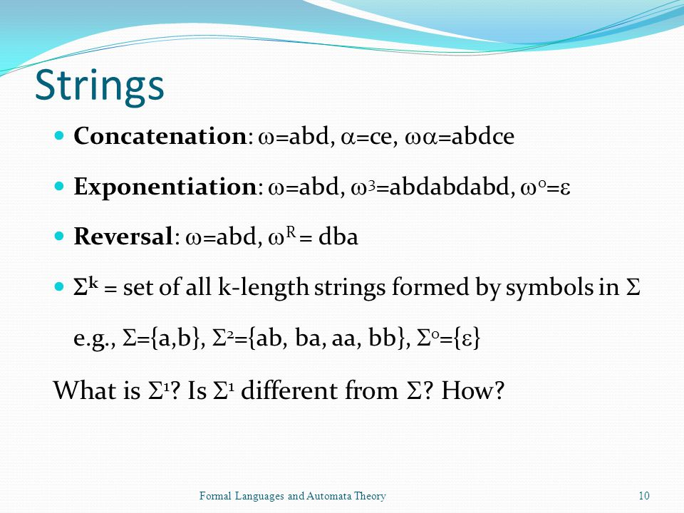 Strings What is 1 Is 1 different from  How