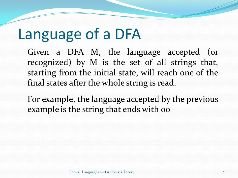 Language of a DFA