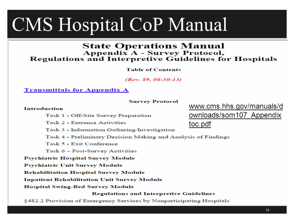 cms infection control standards what hospitals need to know ppt rh slideplayer com cms state operations manual 2018 appendix a cms state operation manual 2014