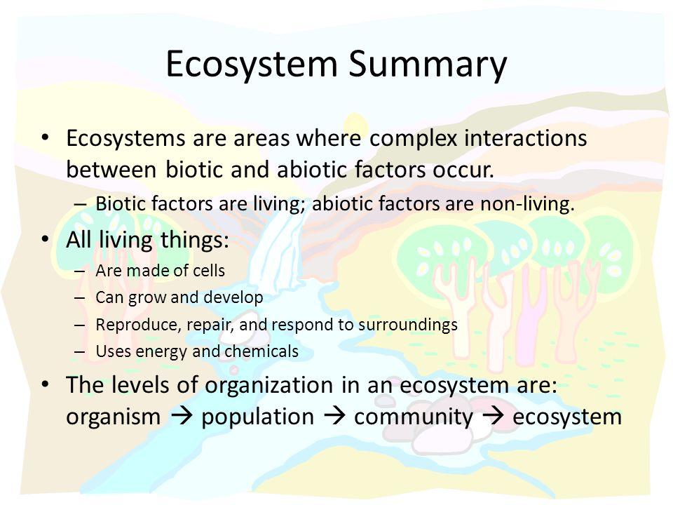 graphic organizer biotic and abiotic interactions
