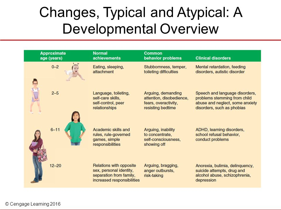 Changes, Typical and Atypical: A Developmental Overview
