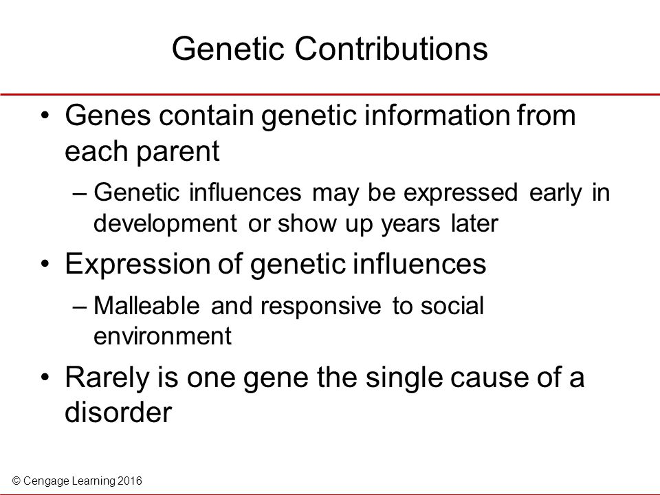 Genetic Contributions