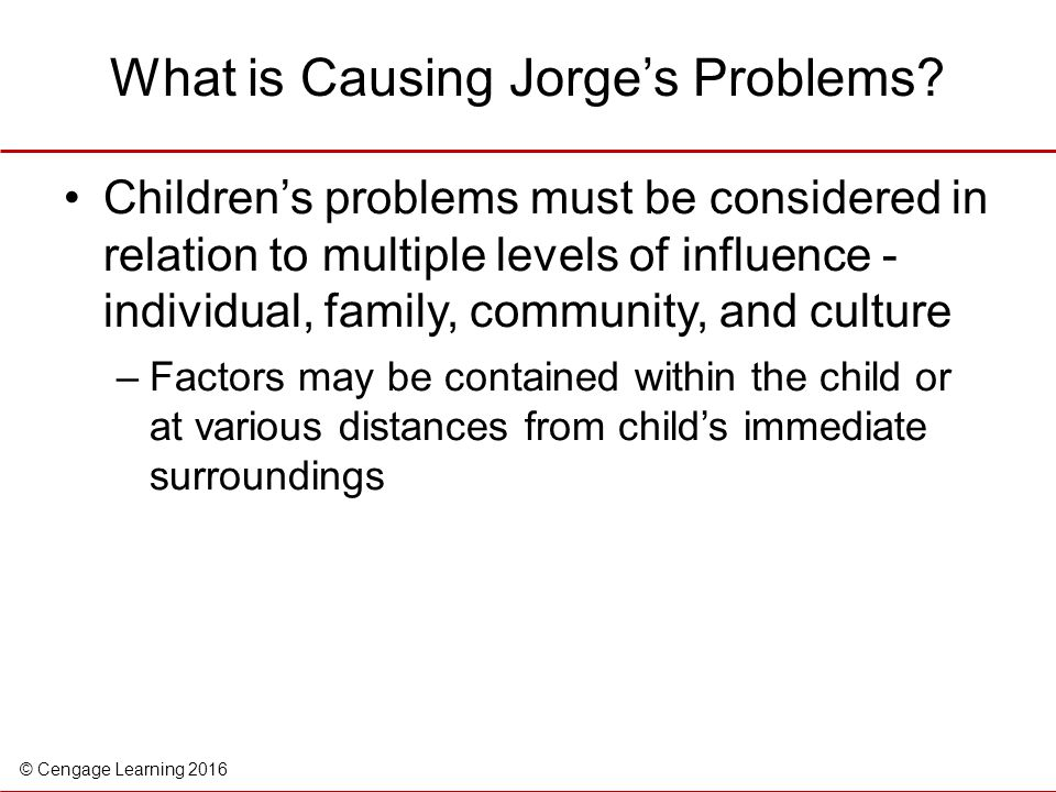What is Causing Jorge's Problems