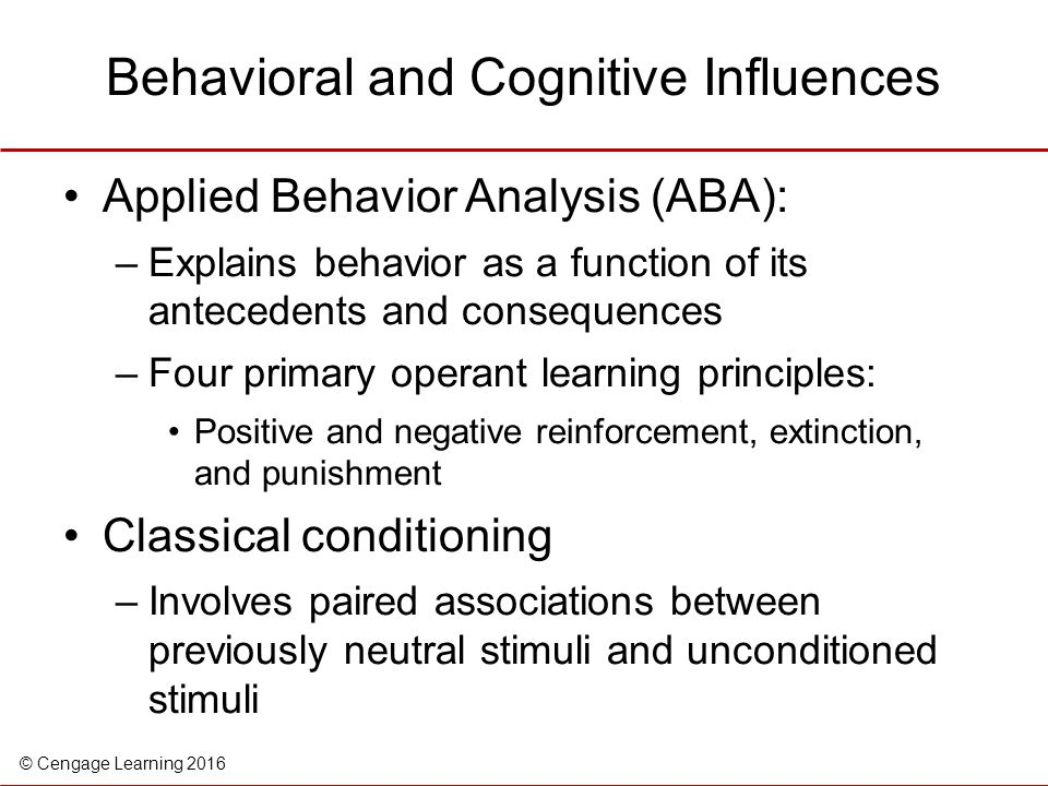 Behavioral and Cognitive Influences
