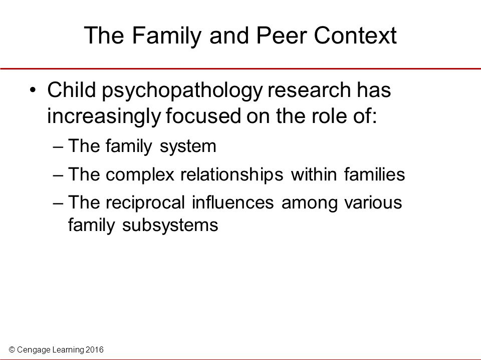 The Family and Peer Context