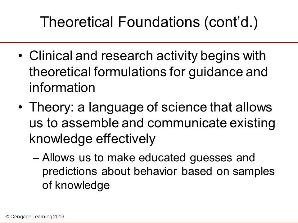 Theoretical Foundations (cont'd.)