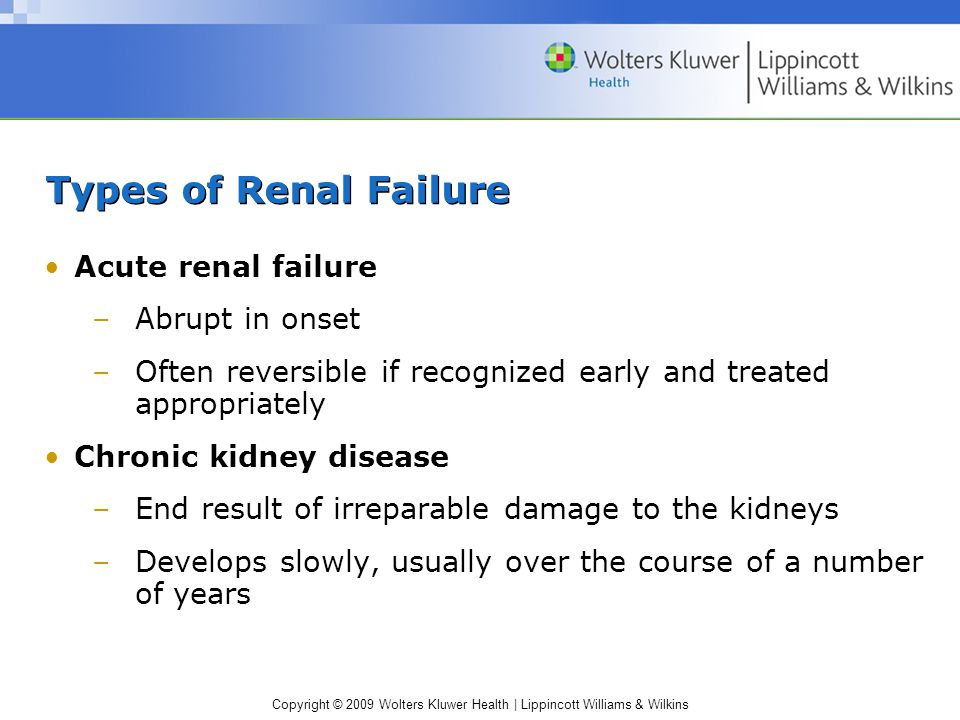 Chapter 34 Acute Renal Failure And Chronic Kidney Disease Ppt Download