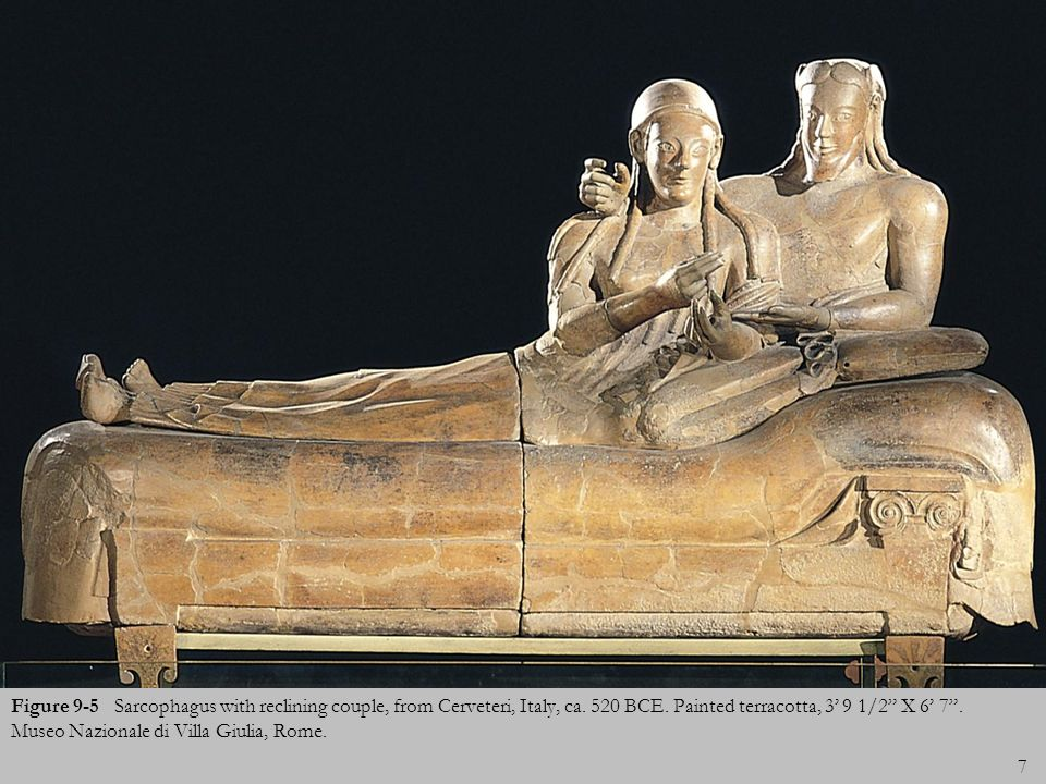 Figure 9-5 Sarcophagus with reclining couple, from Cerveteri, Italy, ca.