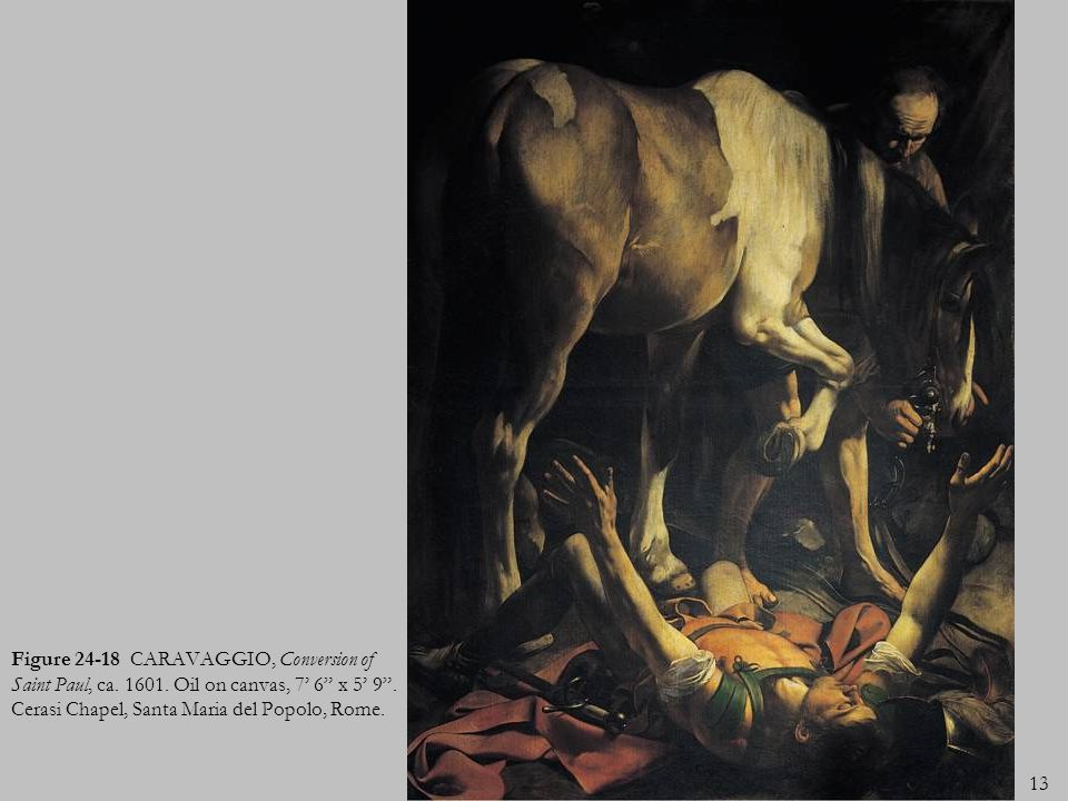 Figure 24-18 CARAVAGGIO, Conversion of Saint Paul, ca. 1601