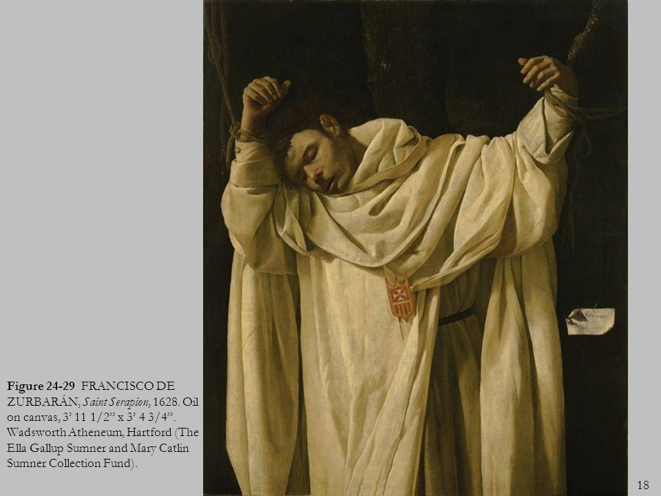 Figure 24-29 FRANCISCO DE ZURBARÁN, Saint Serapion, 1628