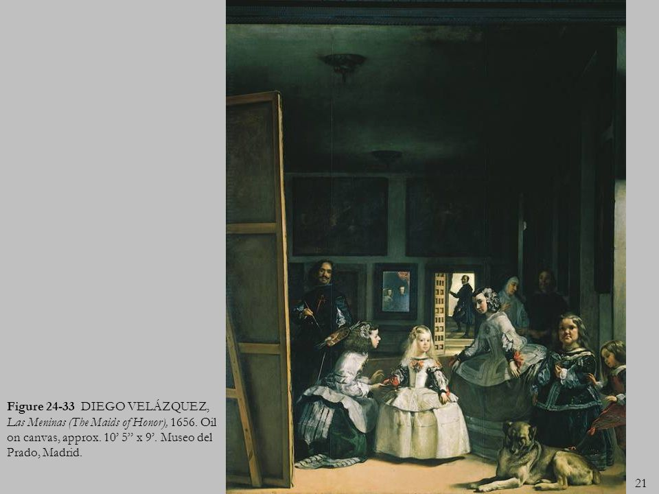 Figure 24-33 DIEGO VELÁZQUEZ, Las Meninas (The Maids of Honor), 1656