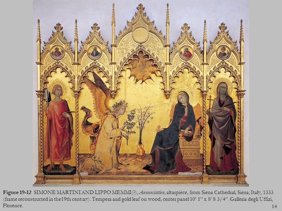 Figure 19-12 SIMONE MARTINI AND LIPPO MEMMI(