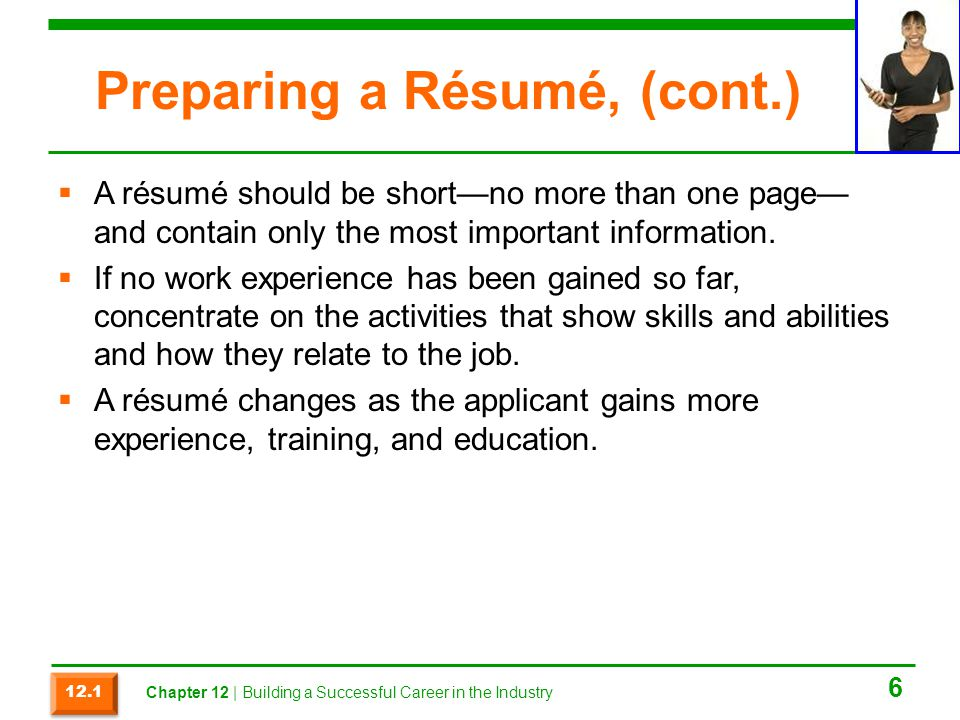 Chapter 12 Building A Successful Career In The Industry Ppt Video