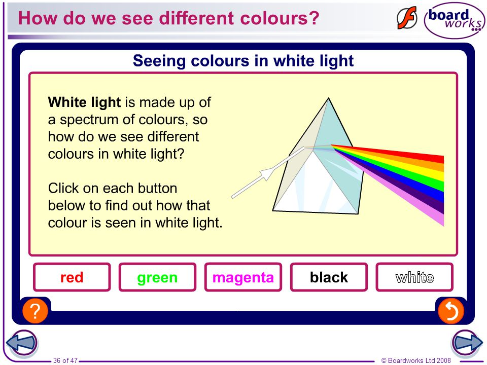 How do we see different colours