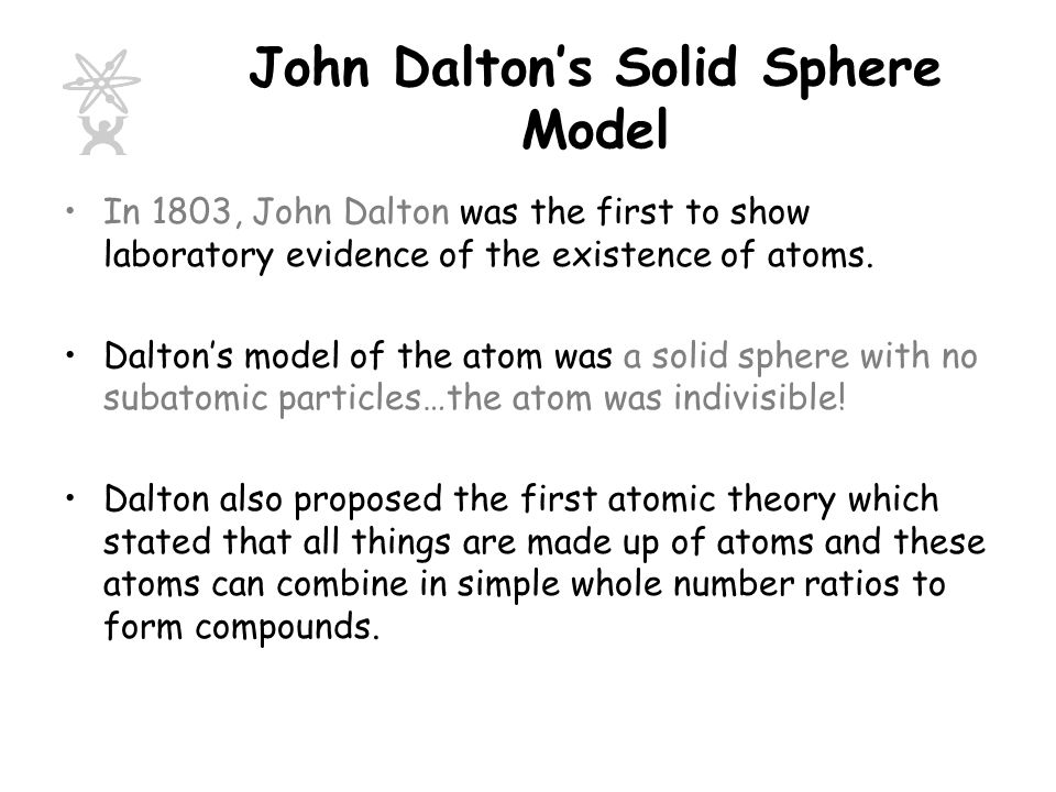 John Dalton's Solid Sphere Model