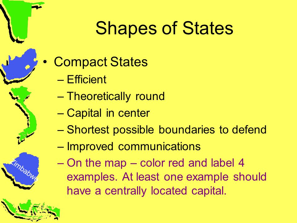 Compact State Map.State Shapes Homework Debra Troxell Nbct Ppt Video Online Download