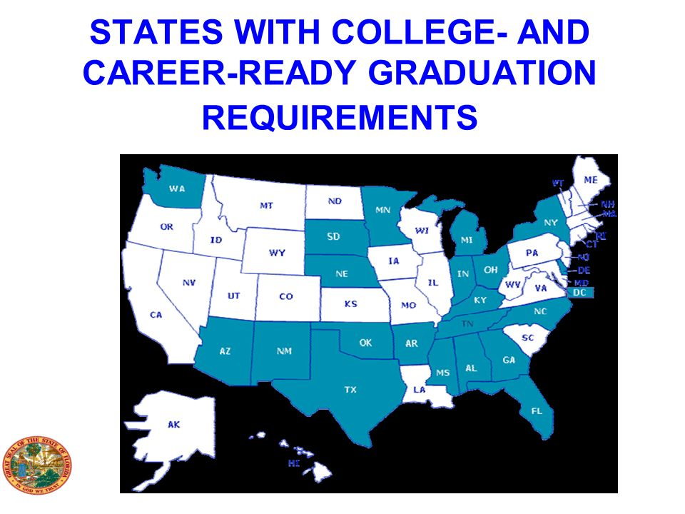 STATES WITH COLLEGE- AND CAREER-READY GRADUATION REQUIREMENTS