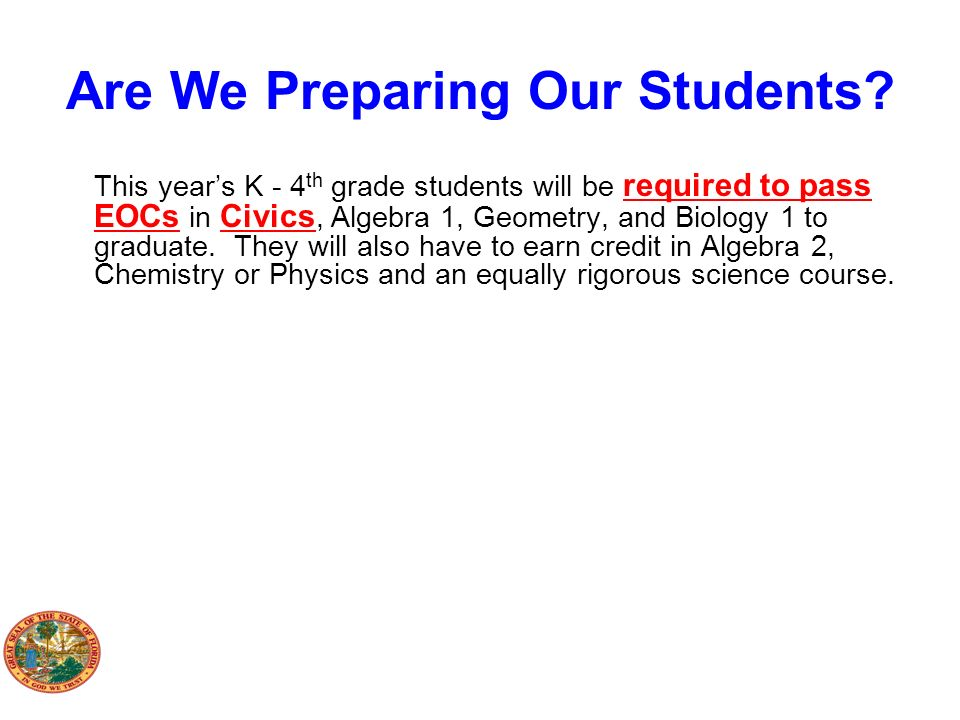 Are We Preparing Our Students
