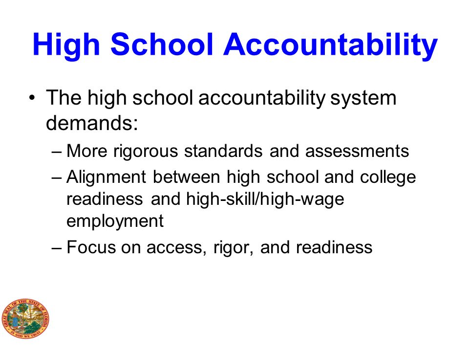High School Accountability