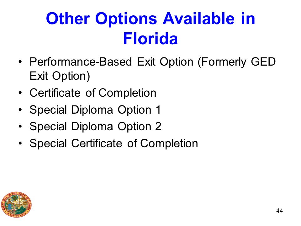 Other Options Available in Florida