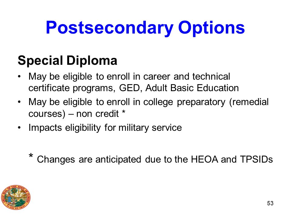 Postsecondary Options