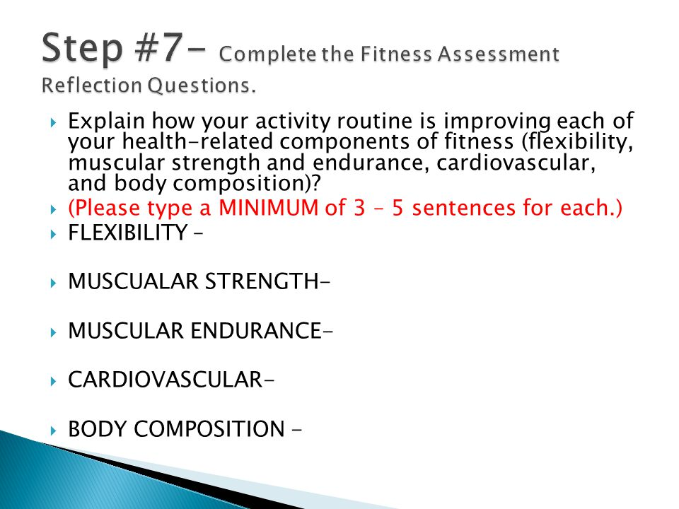 Personal Fitness Wellness Plan  - ppt video online download