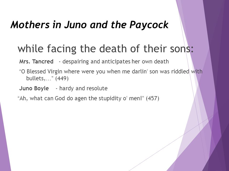 juno and the paycock relationships