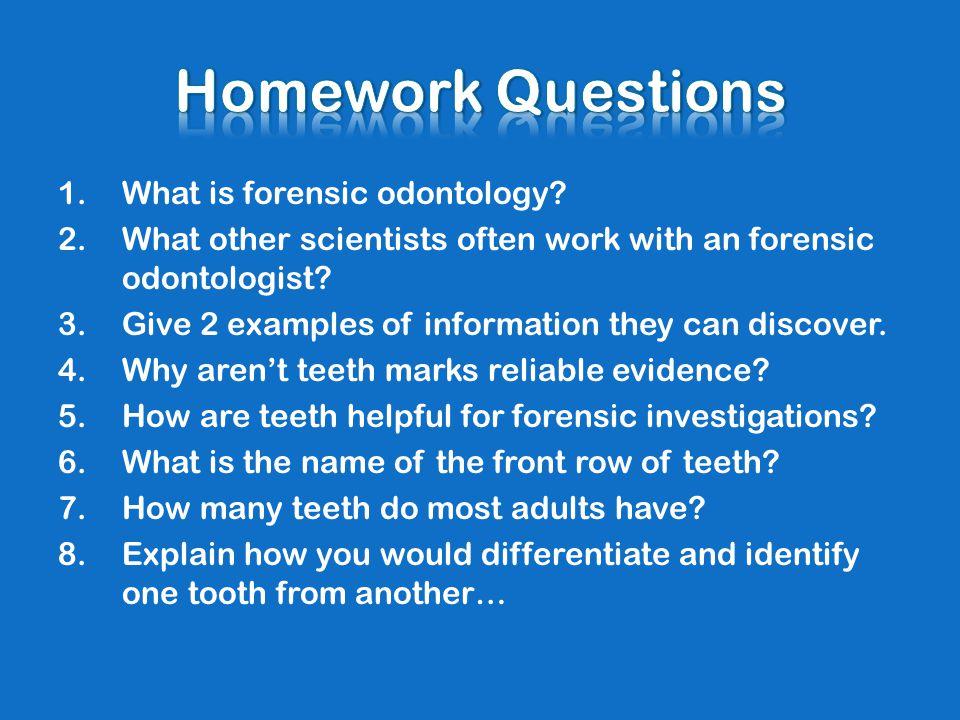 Forensic Odontology Ppt Download