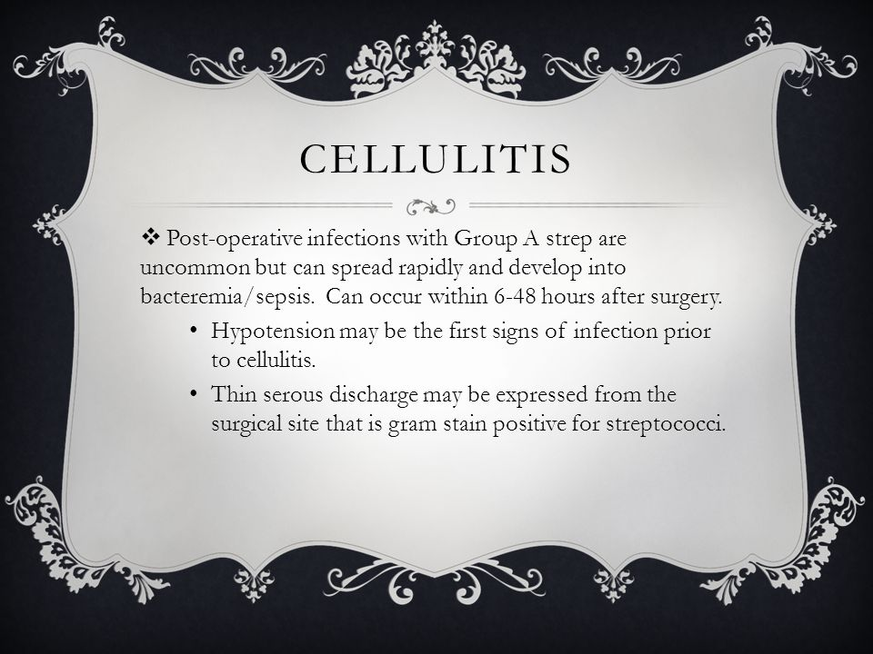 post op cellulitis