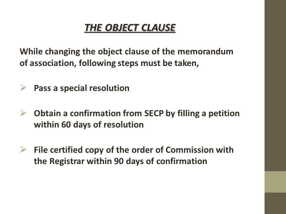contents of memorandum of association