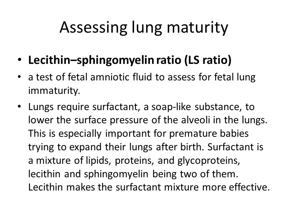 Fetal lung maturity ratio