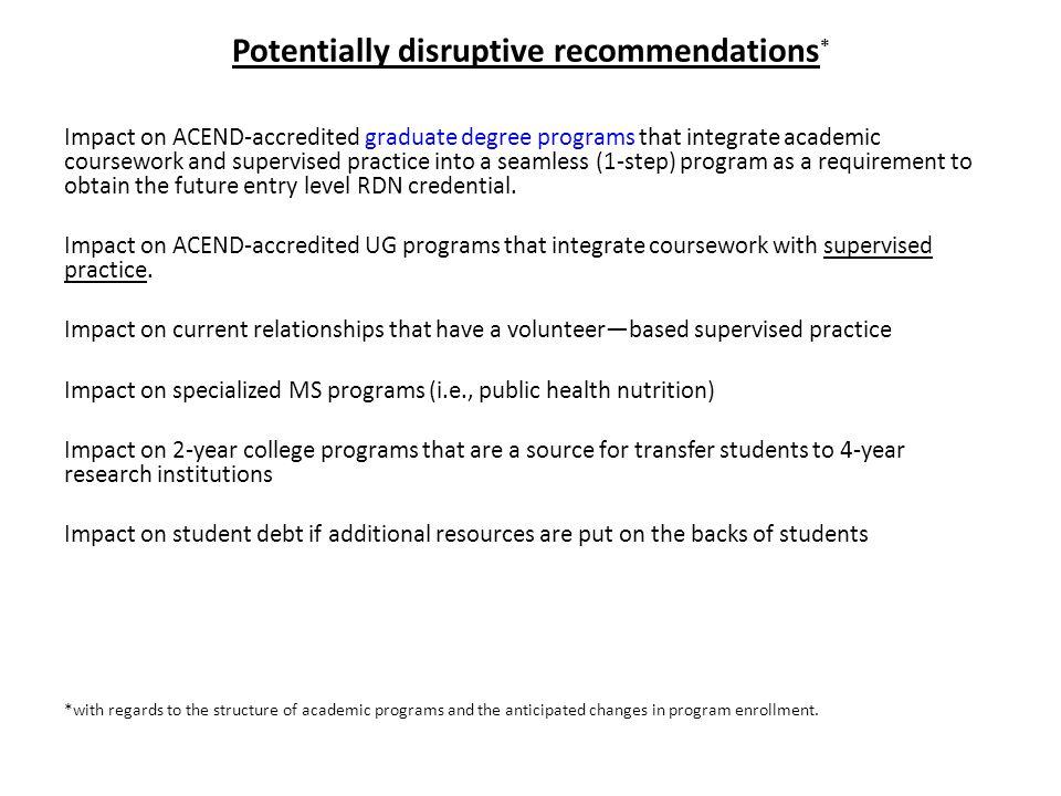 acend-accredited coursework requirements