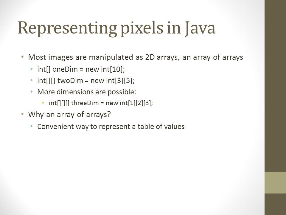 Manipulating 2D arrays in Java - ppt download