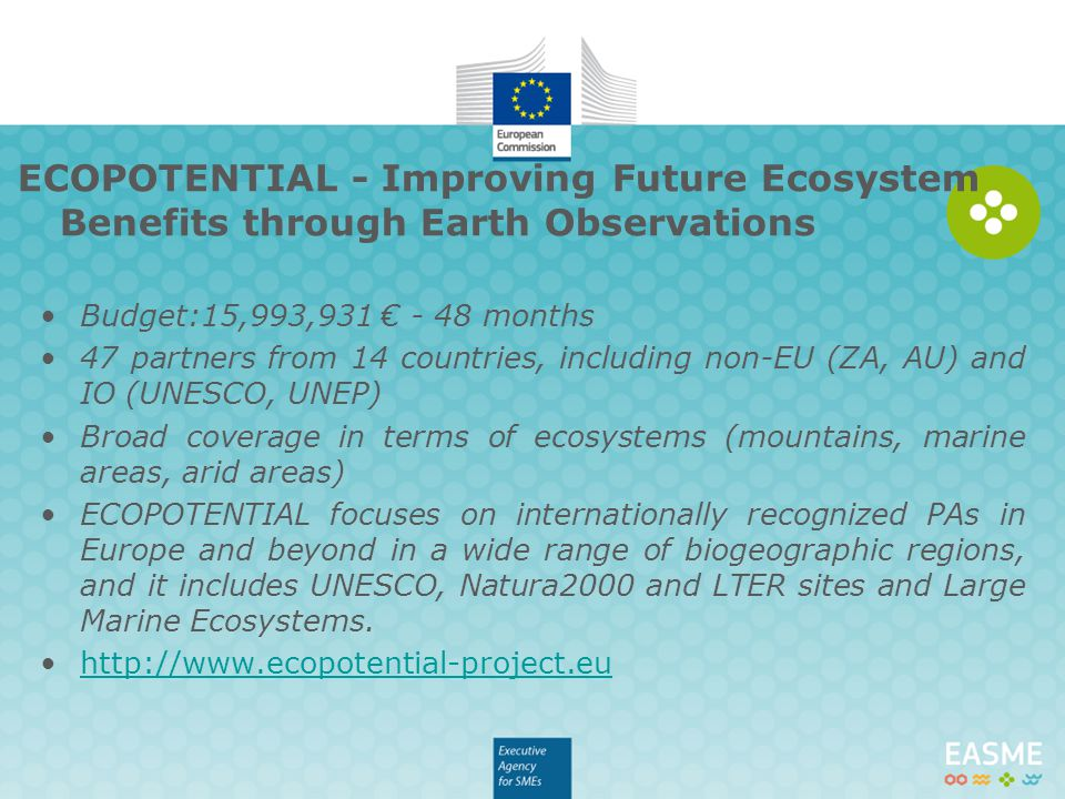 ECOPOTENTIAL - Improving Future Ecosystem Benefits through Earth Observations