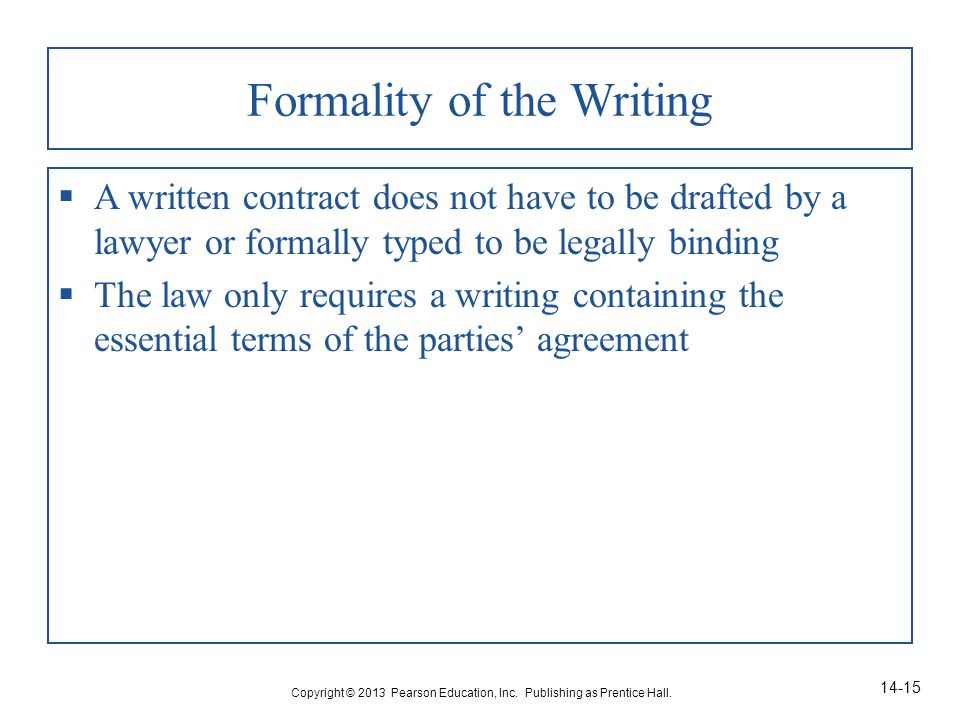 Chapter 14 Statute Of Frauds And Equitable Exceptions Ppt Video