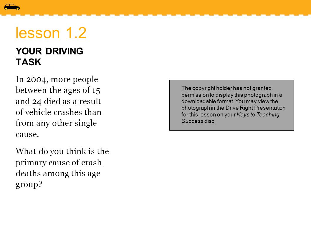 lesson 1.2 YOUR DRIVING TASK