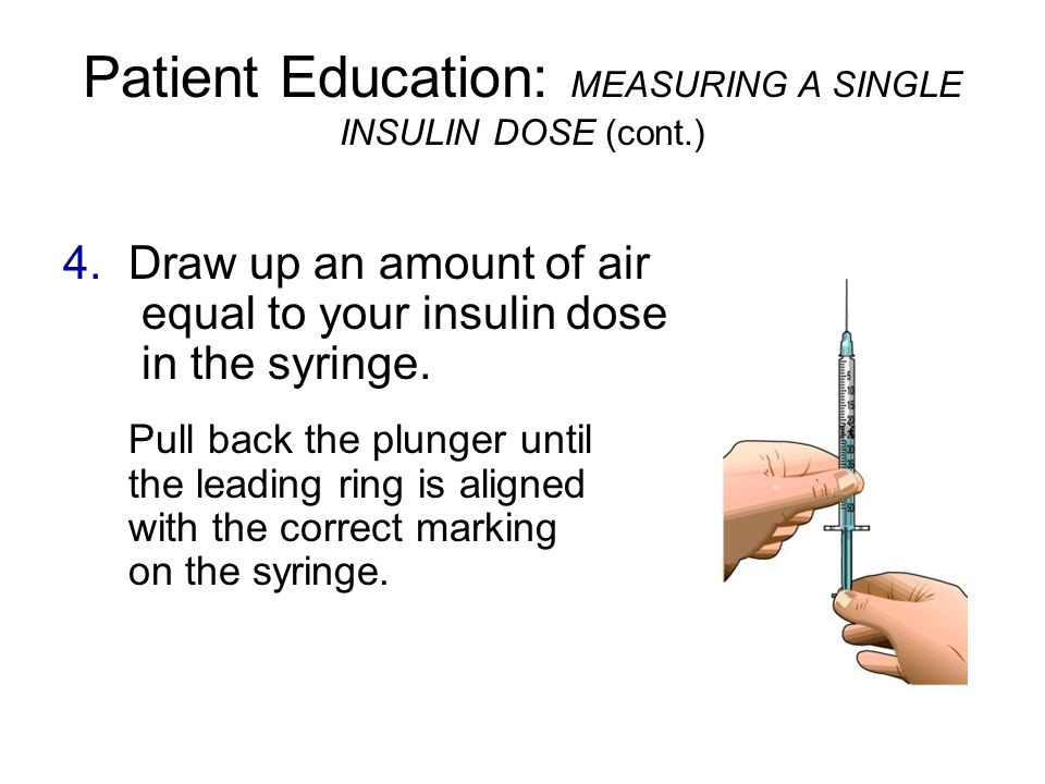 how to draw up insulin