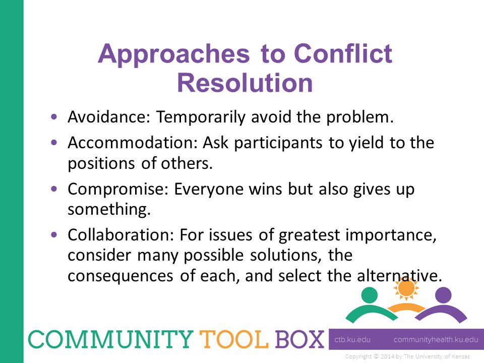 Approaches to Conflict Resolution