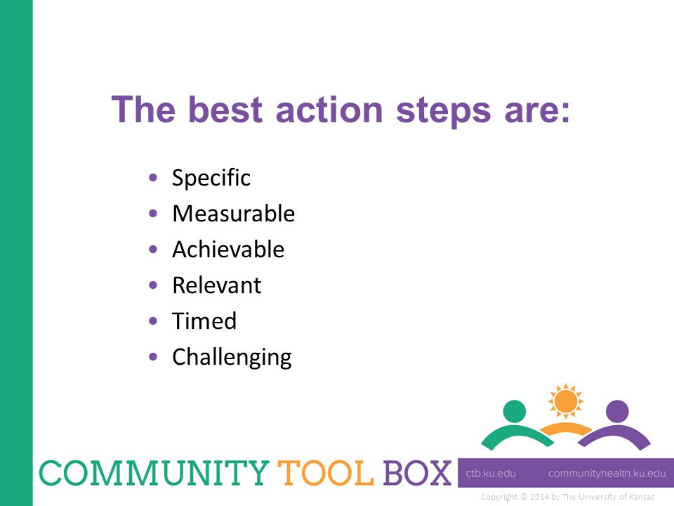The best action steps are: