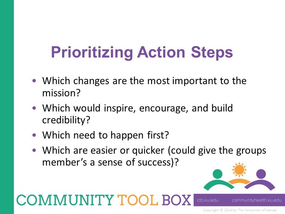 Prioritizing Action Steps