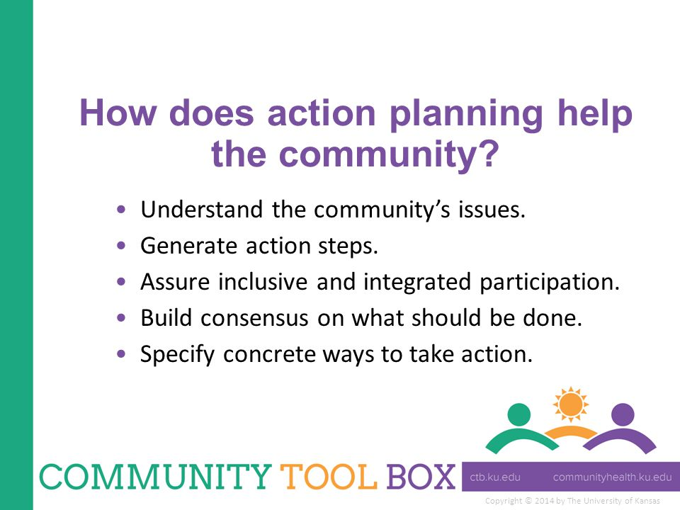 How does action planning help the community