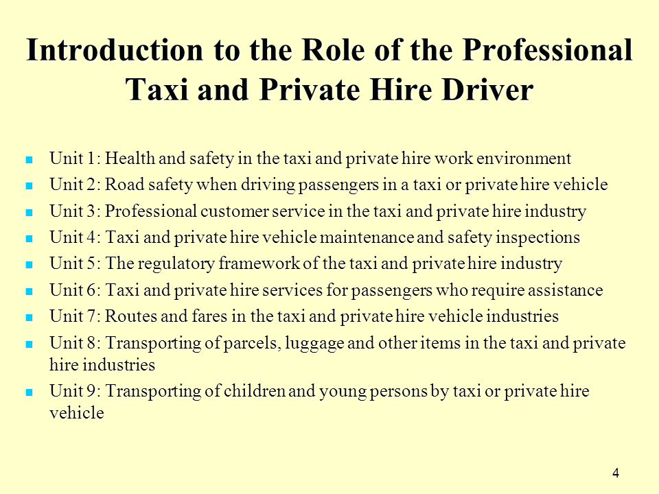 PTDQ – Professional Taxi Driver Qualification - ppt video