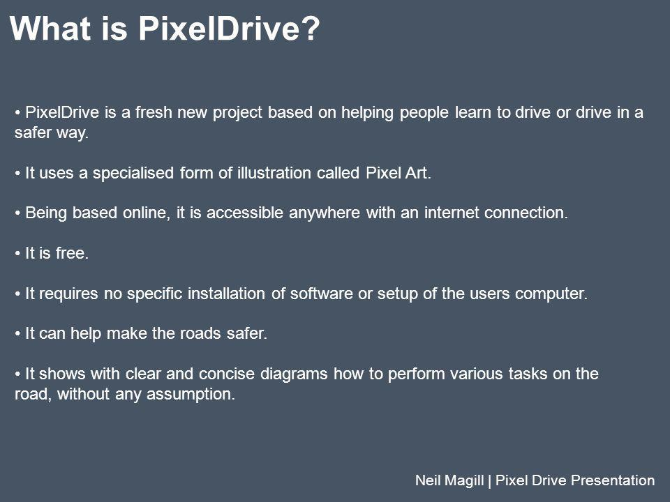 What is PixelDrive PixelDrive is a fresh new project based on helping people learn to drive or drive in a.