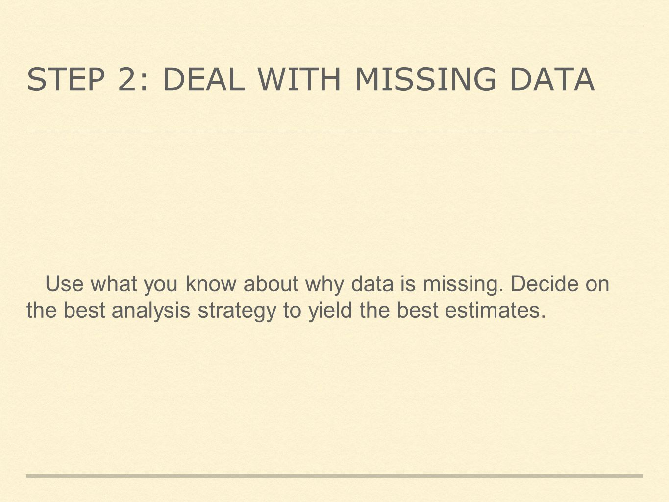 How to deal with missing data: INTRODUCTION - ppt video