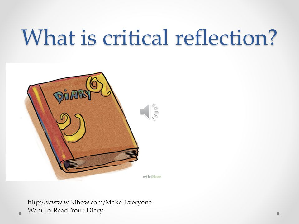 how to write a personal reflection and analysis